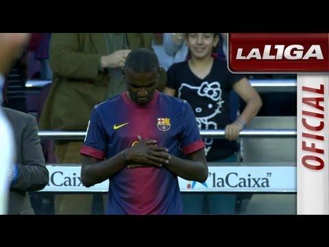 Eric Abidal juega su último partido con el FC Barcelona