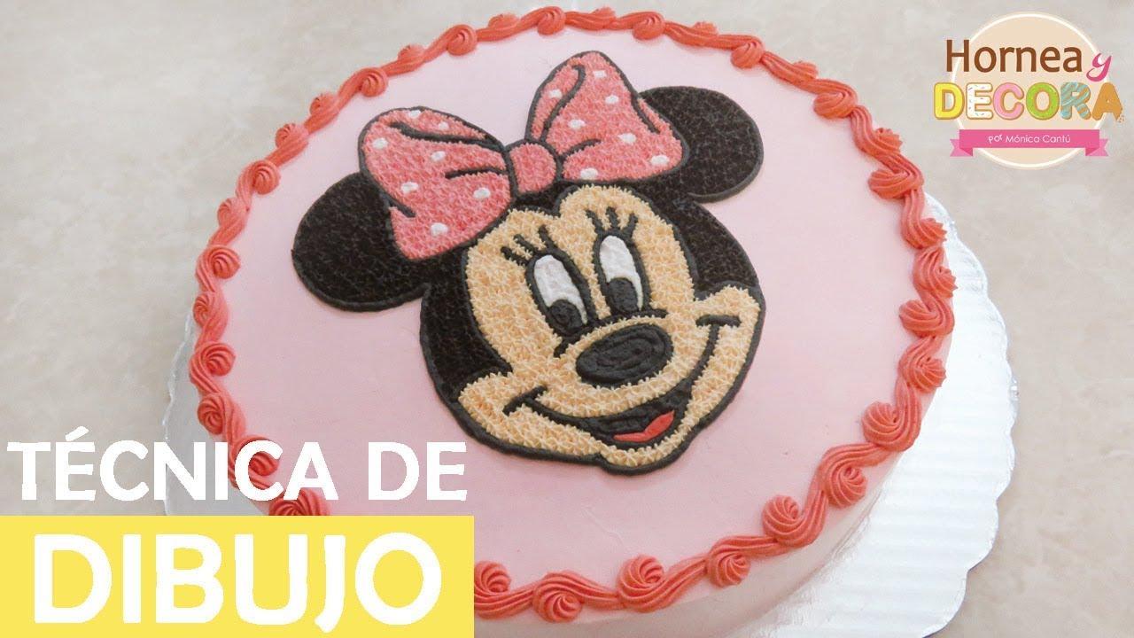 Tecnica De Dibujo Pastel De Minnie Mouse 68 Youtube