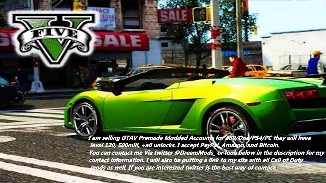 Gta v pc modded accounts | GTA 5(5 FREE MODDED ACCOUNTS! FREE RP