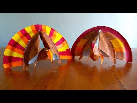 How To Make A Paper Turkey! Thanksgiving Kids Craft!