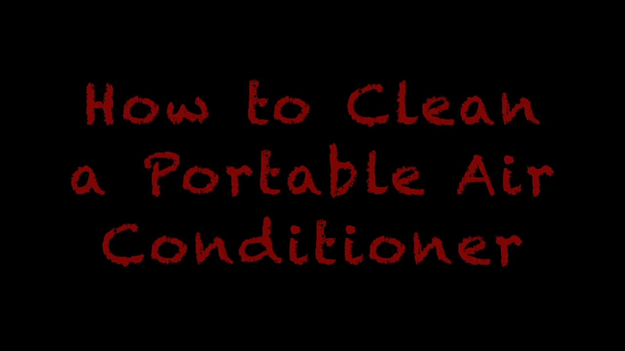 How to Clean A Portable AC Unit!