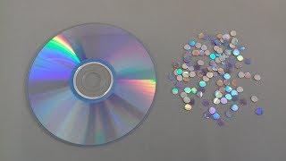 Como fazer lantejoulas com cd