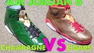 Air Jordan 6 Cigar VS Champagne Sneakers With Dj Delz #Pickone