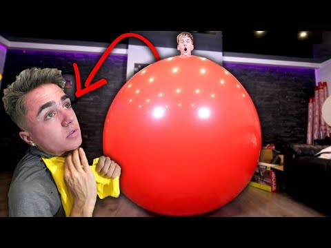 GETTING INSIDE GIANT BALLOONS WITH JAKE MITCHELL!!! (He almost died) **NOT CLICKBAIT**