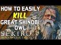 SEKIRO BOSS GUIDES - How To Easily Kill The Great Shinobi Owl!