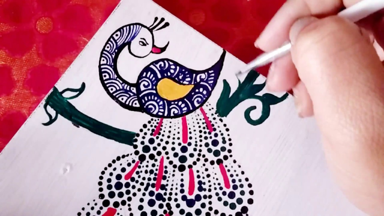 How To Draw Peacock Diy Wall Hanging Ideas Youtube