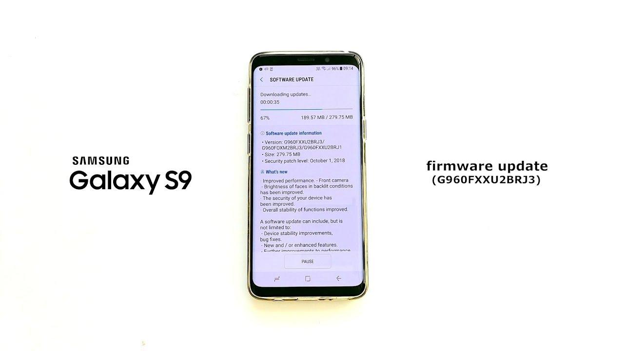 Samsung Galaxy S9 new firmware update (G960FXXU2BRJ3)