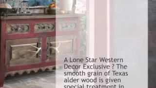Antler Alder Wood Table - Lonestarwesterndecor.com
