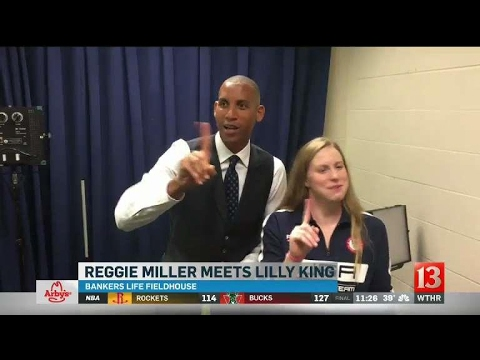 Reggie Miller meets Lilly King