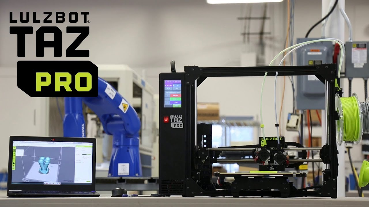 video LulzBot TAZ Pro 3D Printer