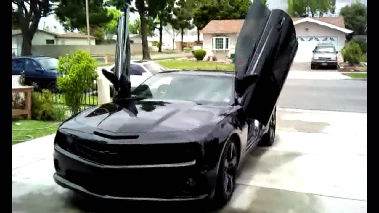 Matte Black Vinyl Wrap On Camaro 2010 Youtube