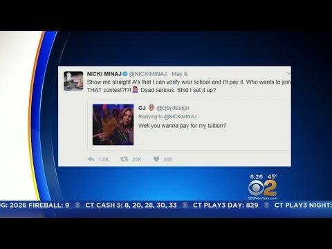Nicki Minaj Pays College Fees For Twitter Fans