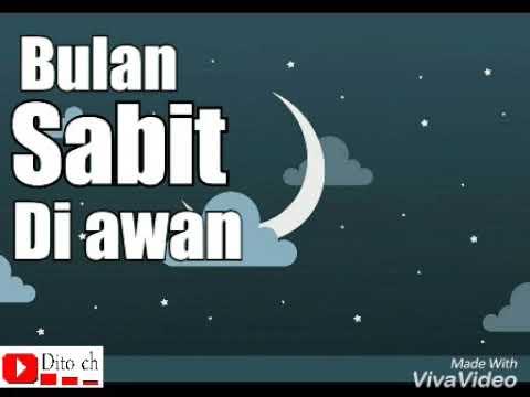 Lirik Lagu Anak - Bulan Sabit - Cipt. A. T. Mahmud