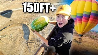 GIANT DROP TEST OFF HOT AIR BALLOON!