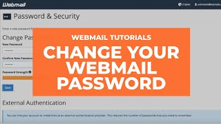 How to change your Webmail password in cPanel thumbnail