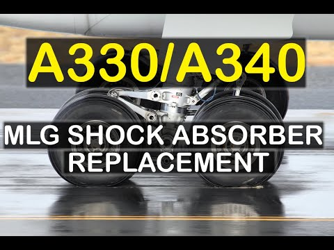 Airbus A340 Shock Absorber Removal Installation Youtube
