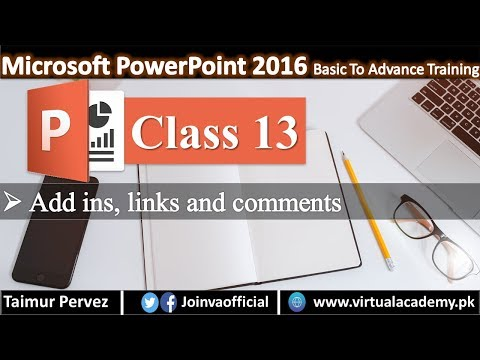 Microsoft PowerPoint In Hindi   Add ins, Links and Comments.  13 thumbnail