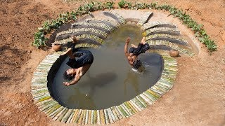 Build Bamboo Spider Swimming Pool