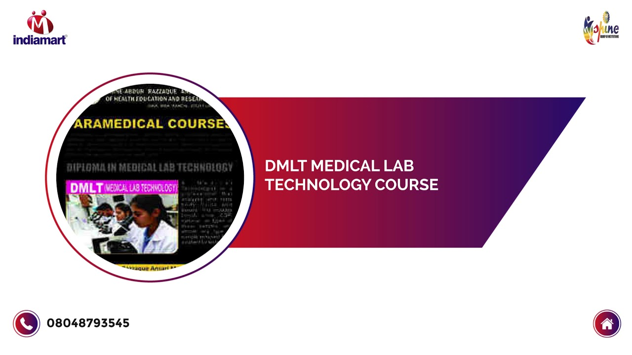 Full Time 2 Year Diploma Medical Lab Technology Course | ID: 19394139633