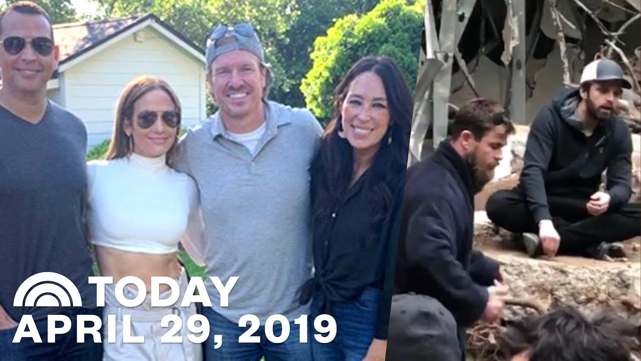 Chips Et Joanna Gaines chip and joanna gaines hang with j. lo | chris pratt shares bts footage of  endgame & more | today