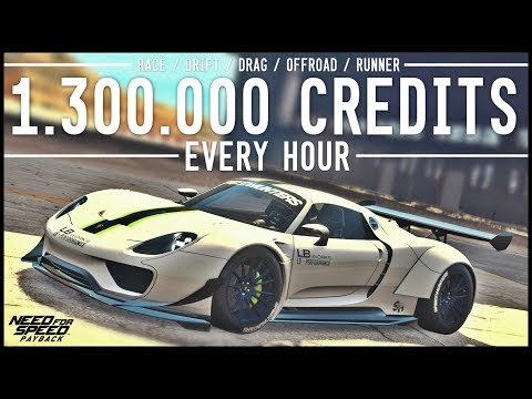 NFS Payback - 1.3 MILLION Credits in 1 Hour!! RACE / DRIFT / DRAG / OFFROAD / RUNNER