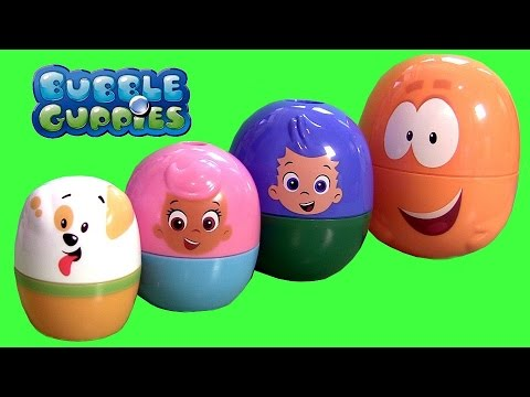 Bubble Guppies Stacking Cups Surprise Eggs Nickelodeon Mr