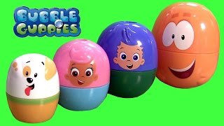 Bubble Guppies Surprise Eggs Stacking Cups Nickelodeon Mr. Grouper & Guppy Puppy by DCToysCollector