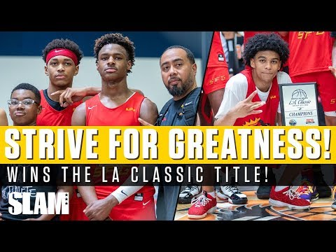 e7d9334b4f2 Bronny James Wins Two Titles in ONE Day!? Strive For Greatness Takes LA  Classic