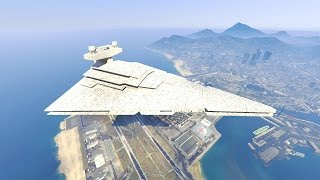 gta 5 landing imperial star destroyer on the aircraft carrier gta 5 funny moment finale