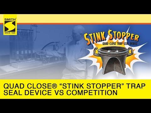 "Quad Close® ""Stink Stopper"" Trap Seal Device vs  the Competition HD"