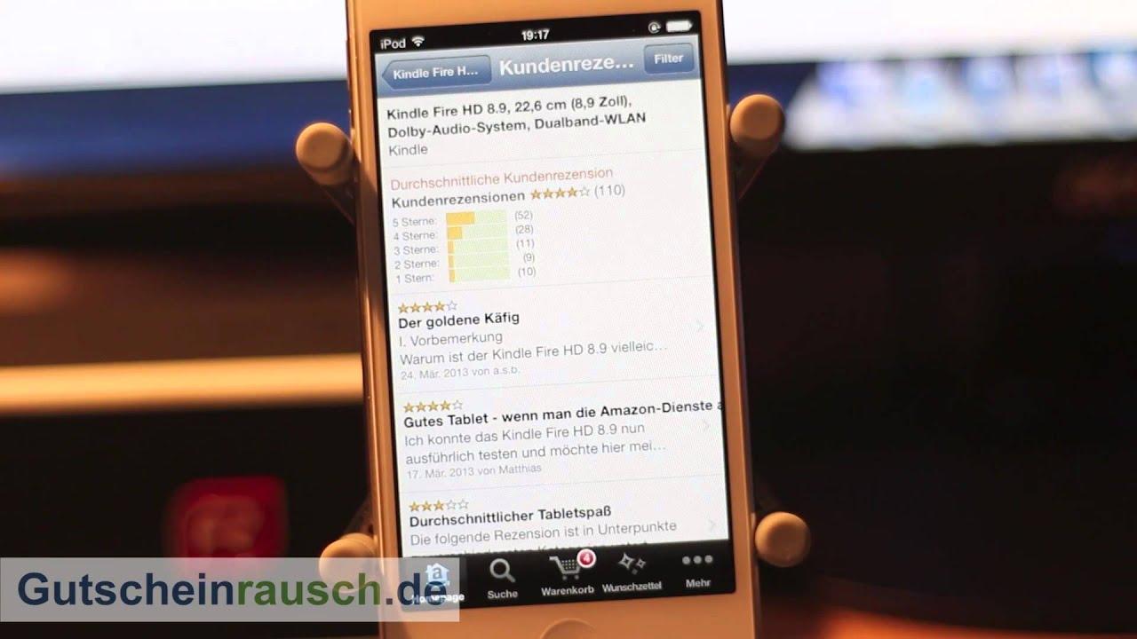 Amazon-App im Test auf Gutscheinrausch.de