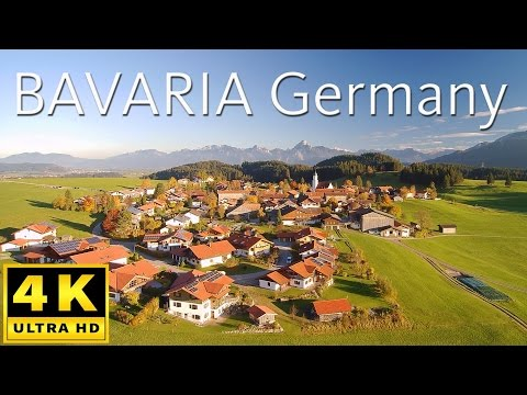 Bavaria Germany - flights over castles, churches, ruins and beautiful places - shot with a drone