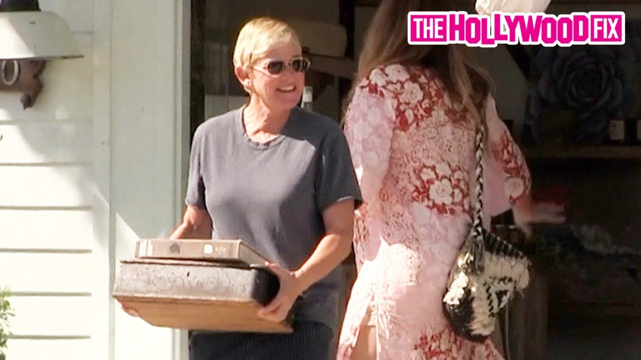 Ellen DeGeneres Goes Shopping To Decorate Her Expansive Property Portfolio At The Well In Montecito
