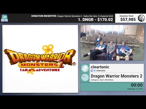 Dragon Warrior Monsters 2 (Tara Glitchless) by cleartonic (RPG Limit Break 2017 Part 34)