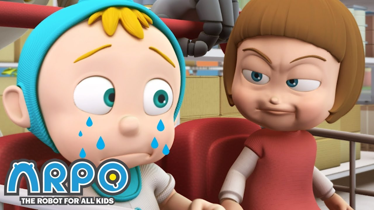 Baby Daniel vs Baby Sally - ARPO the Robot   에피소드를보고   Cartoons for Kids   Robot Animation