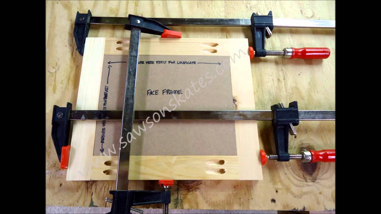 How to tutorial make a no miter cut picture frame youtube solutioingenieria Gallery