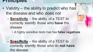 Epidemiology Screening Tests