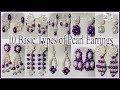 #171 TEN (10) Unique Pearl Earrings By DiyArtiePie | Jewellery Making | Earrings for Party Wear