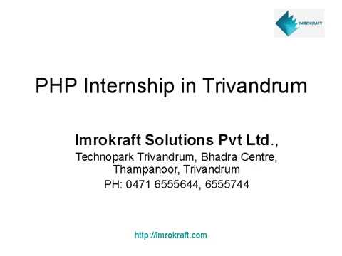 PHP Intership in Trivandrum