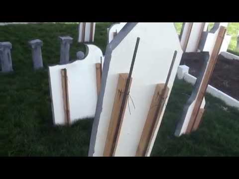 Halloween Tombstones Revisited, How I Secure Them In Place