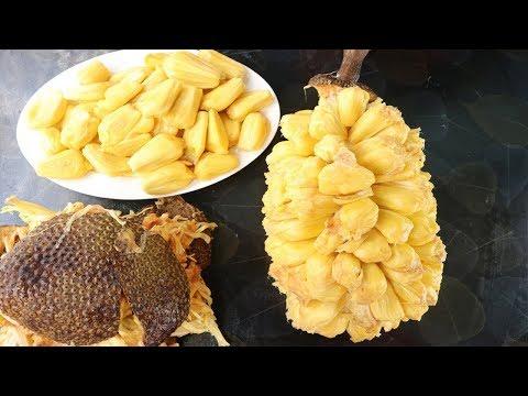 Amazing Jackfruit Cutting Skills || Amazing Way To Open A Big Jackfruit || How To Cut A Jackfruit