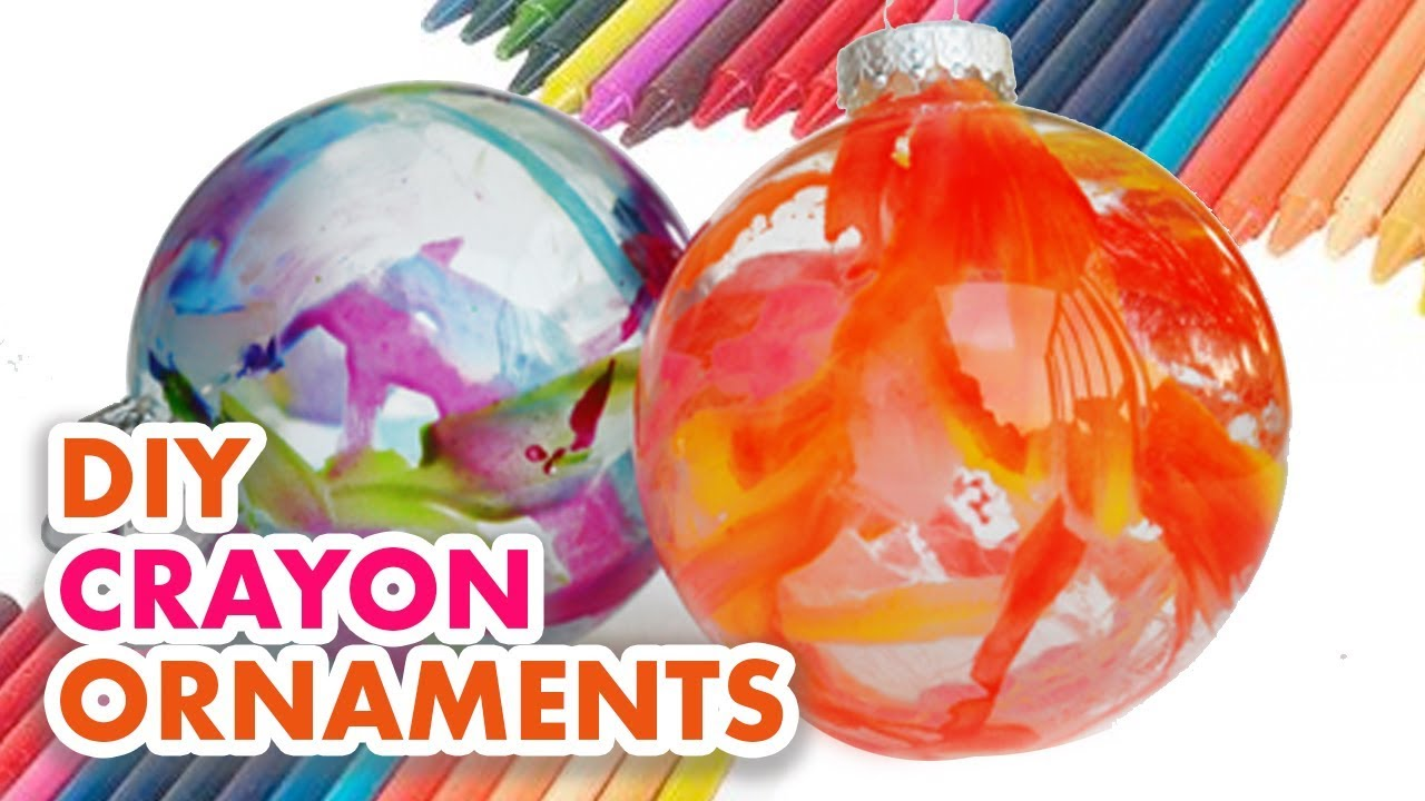 how to make easy crayon ornaments youtube