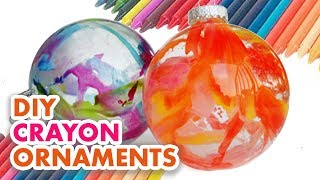 How to make easy crayon ornaments