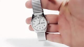 Armbanduhr für Damen & Herren mit Metallzugarmband Regent Weiß