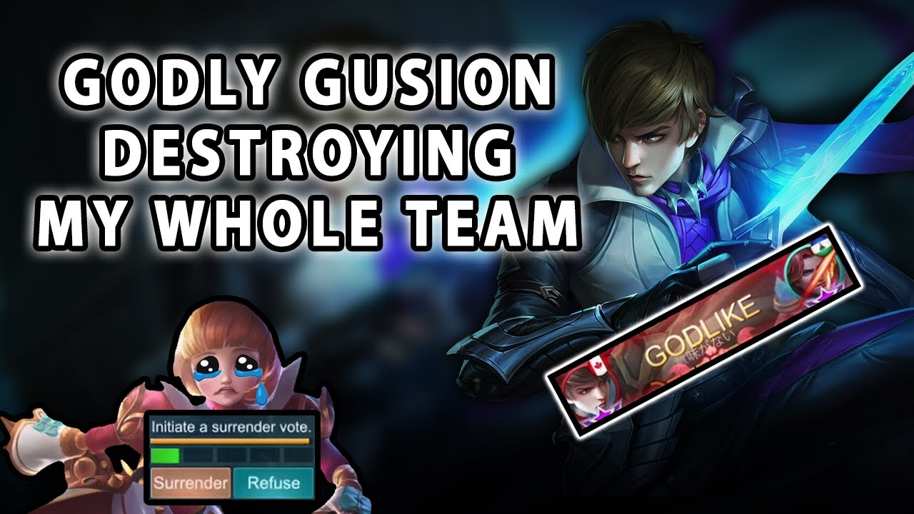 What Happens When A Godly Gusion Is Destroying My Whole Team | Mobile Legends