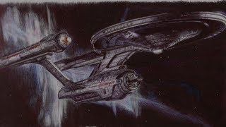 The Starship Enterprise - Ballpoint Pen Drawing