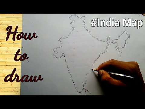 How to draw Map of India step by step easy way