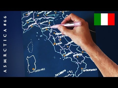 ASMR 1 Hour Drawing Map Of Italy   Soft Spoken Binaural