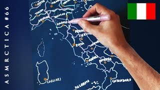 ASMR 1 Hour Drawing Map of Italy | Soft Spoken Binaural