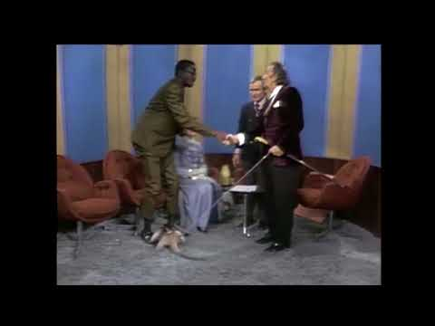 Salvador Dali knows how to make a stylish entrance Dick Cavett